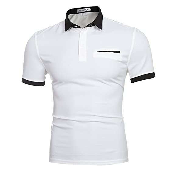 Cloud Style Polo para hombre, manga corta blanco blanco XX-Large ...