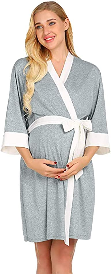 Ropa Mujer Ropa de Dormir Pijamas Bata de Maternidad Bata de Parto Camisones Hospital Bata de Lactancia Materna Ever Pretty Vestido Maternidad gestación Vestido Ropa Atuendo Vestir: Amazon.es: Ropa y accesorios