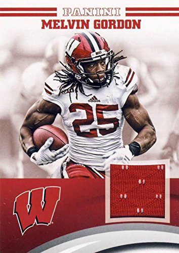 low priced 35ded 40590 Melvin Gordon player worn jersey patch football card ...