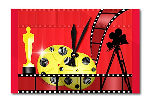 Lantern Press Oscar Awards- Illustration A-92273 (Acrylic Wall Clock) (Diamond Award Acrylic Beveled)