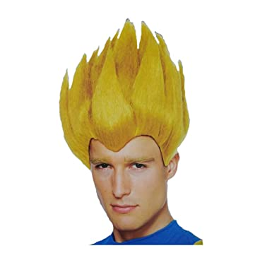 Amazon.com  Super Saiyan Vegeta Adult Blonde Spike Wig  Clothing d9f4c1525b