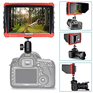 Neewer NW-A7S Camera Field Monitor Kit Includes: 7-inch 4K 1920x1200 IPS Screen HDMI Input/Output Monitor, 2-Pack 2600mAh Sony NP-F550 Replacement Battery and Dual Charger for Sony Canon Nikon