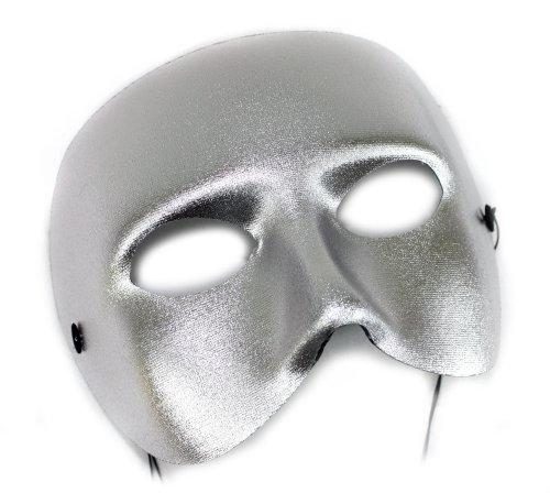 Casanova Silver Men's Masquerade Mask