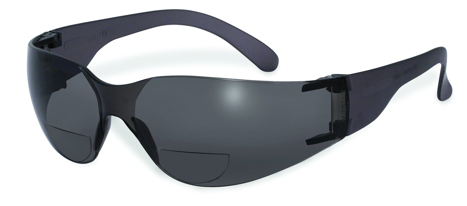Pro 3.00 SM Specialized Safety Products SSP Eyewear 3.00 Bifocal Recyclable Safety Glasses with Smoked Lenses