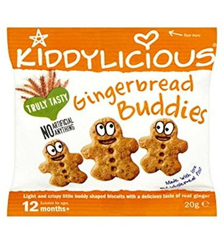 Kiddylicious Gingerbread Buddies 20G - Pack of 2