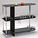 Kings Brand Furniture SC-6095-BK Bar Table Black