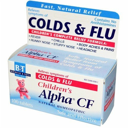 Boericke & Tafel Child Alpha Cf/Cold & Flu 100 Tab Alpha Cf 100 Tab