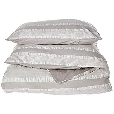 INK+IVY Lakeside 200TC Duvet Cover Set, King, Grey