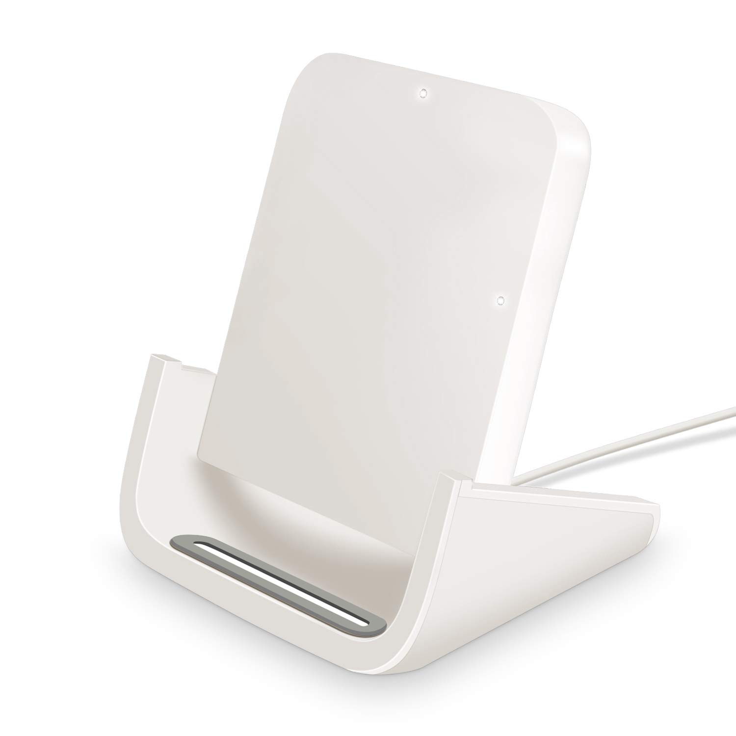 Wireless Charger, Yuwiss 10W Wireless Charging Stand Cordless Chargers Compatible with iPhone XR Max/XS/X/8/8Plus Samsung Galaxy S10/S10 Plus S9/S9 Plus/S10E/S9 Qi-Enabled Devices (White) by YW YUWISS