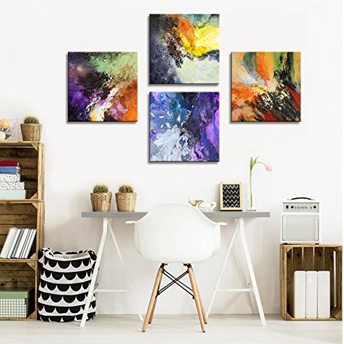 Sunrise Art-Canvas Prints Original Colorful Abstract Painting on Canvas Modern Abstract Cosmos Canvas Art for Living Room by SUNRISE ART (Image #5)