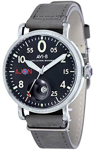AVI-8 Mens Lancaster Bomber Watch - Grey