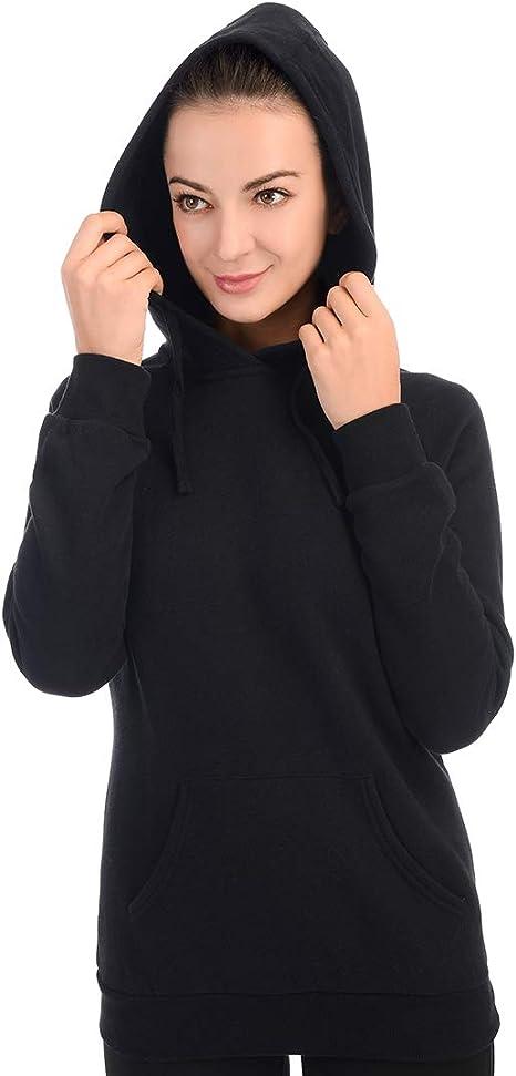 qualidyne Women/'s Full-Zip Hooded Jacket Fleece Midweight Thermal Sweatshirt Long-Sleeve Hoodie