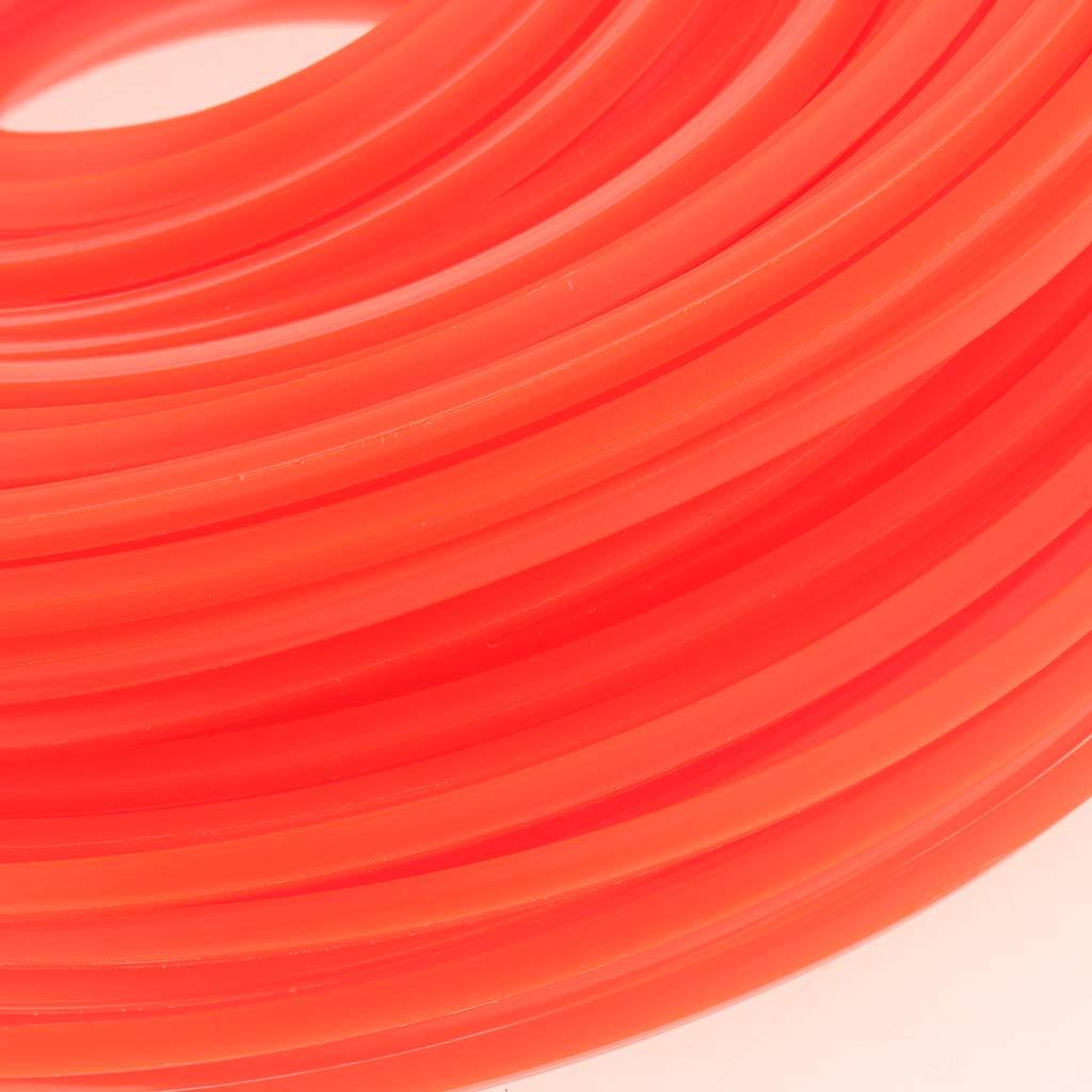 2,4 mm quadratisch aus Kunststoff FLAMEER 90 m Trimmerschnur Faden Schnurspule /Ø 2,4-3 mm