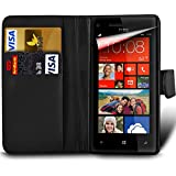 Sony Xperia XA F3111 F3113 F3115 Premium PU Leather Wallet Flip Skin Case Cover in BLACK