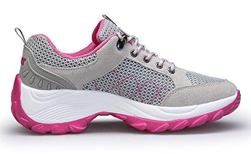 Donna Scarpe KOUDYEN Ginnastica Scarpe Sneakers Grigio Sportive Corsa da Palestra Running da ZTtwf7