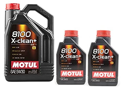 Motul 8100 X-CLEAN+ 5W-30 7 litros (1x5 + 2x1 lt) 100% sintetico DPF: Amazon.es: Coche y moto