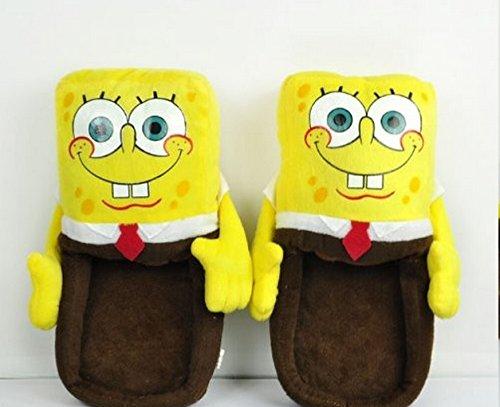 grandi affari il più grande sconto più recente Carino squarepants spongebob peluche ripiena di morbide pantofole ...