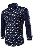 Agatha Garcia Men's Starry Skull Print Long-Sleeves Shirt