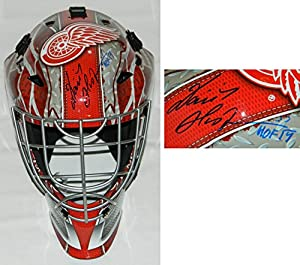 Dominik Hasek Signed Detroit Red Wings Logo Replica Goalie Mask w/HOF 14