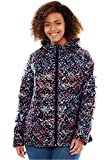 Women's Plus Size Packable Puffer Jacket Confetti,M