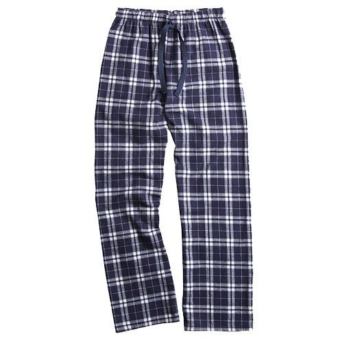 Boxercraft Fashion Flannel Plaid Pant Variety of Colors F20, Youth Sizes (Large, Navy/Silver) (Pants Plaid Blue)