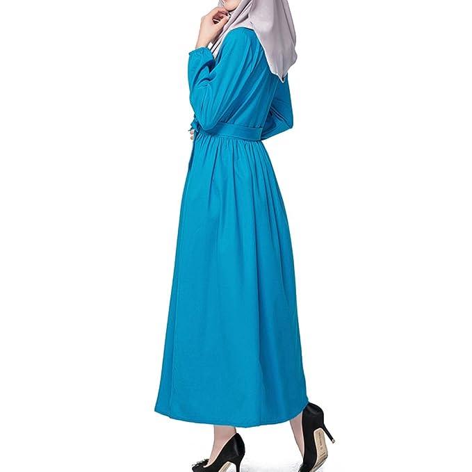 hibote Muslime feste Farbe langärmelige Robe Islam Tunika große ...
