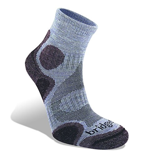 Bridgedale Womens Trail Diva Coolfusion Socks, Medium, Heather/Damson with Sock Ring ()