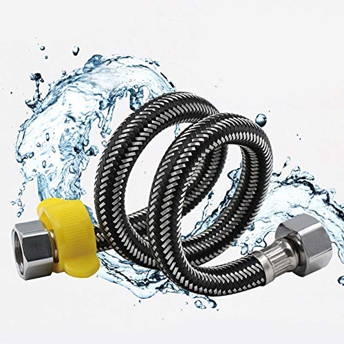 (Plumbing Hoses - 1 2 Quot Toilet Bathroom Hose Sink Basin Pipes Plumbing Corrugated Double Headed Stainless Steel - Sinks Plumbing Hoses Plumbing Hoses Beach Cream Shower Hose Sink Ceramic S)
