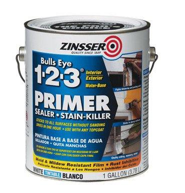 3 Primer Sealer - Zinsser Bulls Eye 1-2-3 Primer Sealer Stain Killer 02001 4- Gallons