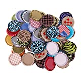 used beer caps - MagiDeal 100pcs Flat Bottle Caps Linerless Flattened No Liners Mixed Color