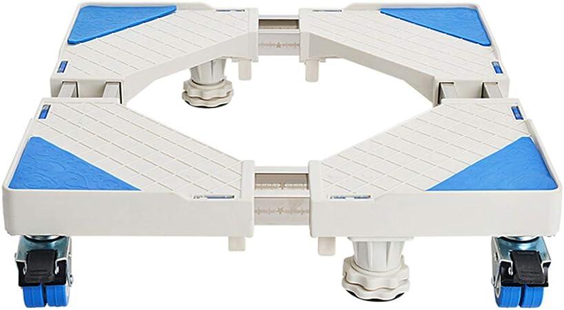 Base Móvil De Lavadora Ajustable Movible Carro para Electrodomésticos Base De Ruedas De Freno Ajustable para Secadora Lavadora Y Refrigerador,4*(Fixed-Foot)+4*Brake(Double-Wheel): Amazon.es: Hogar