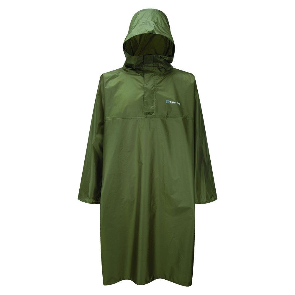 Trekmates Regenponcho Deluxe PAK Poncho - Set de Mantenimiento para Acampada, Color Verde, Talla Única 5055053237359