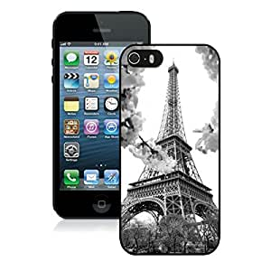 FAGUO Eiffel iPhone 5 5S Case Black Cover Fashion cell phone cases