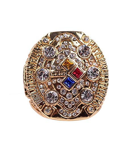 - HASTTHOU 2008 Pittsburgh Steelers Super Bowl Championship Replica Ring (Yellow)