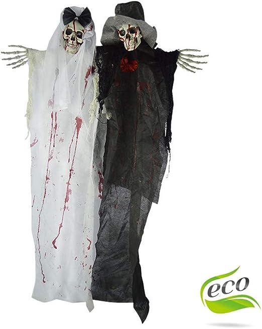 Halloween Sonido Decoracion, Morbuy Calavera Pareja Tenebrosos ...