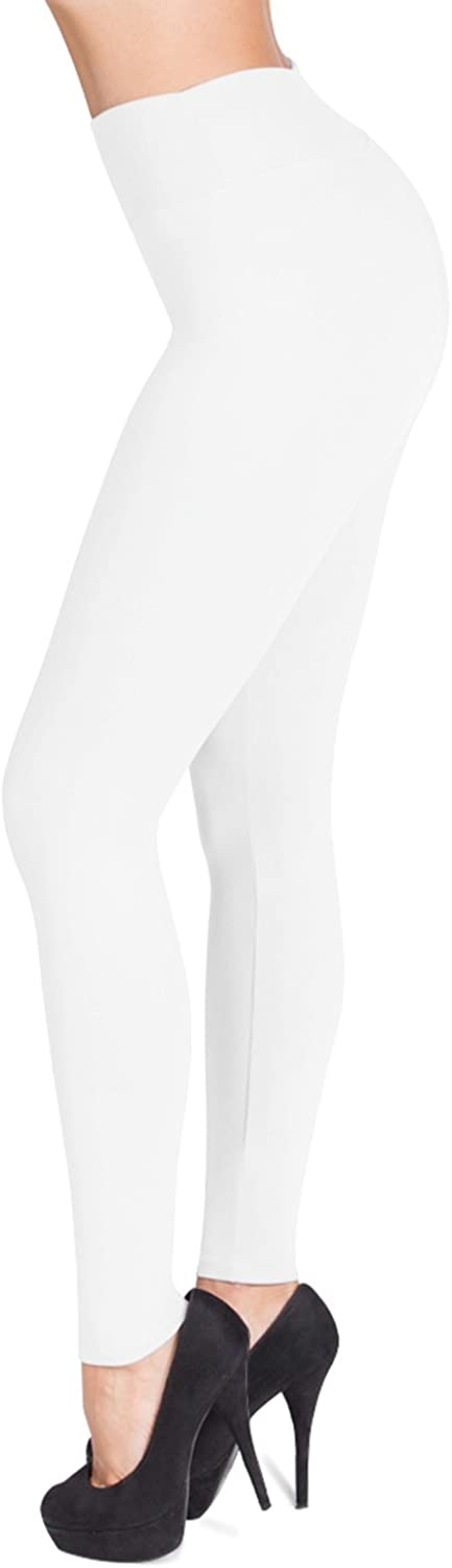 SATINA High Waisted Leggings - 25 Colors - Super Soft Full Length Opaque Slim at  Women's Clothing store