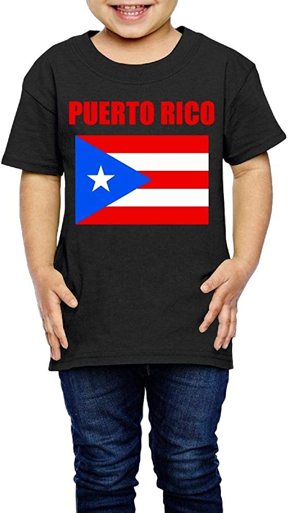 Puerto Rico Flag 2-6 Years Old Kids Short Sleeve Tshirts