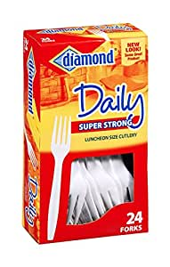 Diamond Daily Super Strong Luncheon Size Forks 24 ct (Pack of 24)