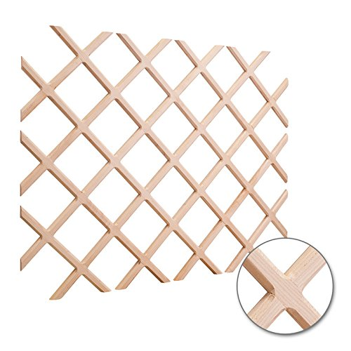 Hardware Resources WR45-2OK Wine Lattice Rack With for sale  Delivered anywhere in USA
