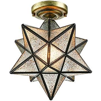 Baycheer Hl399367 12 Quot Diamond Star Shape Flush Mount