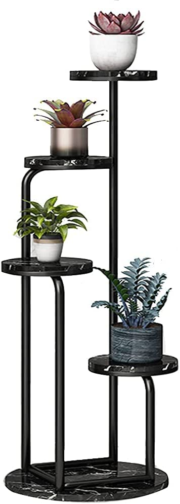 YVX Flower Pot Stand, Balcony Floor Type Plant Display Rack Corner Flower Stand for Indoor Outdoor Home Patio Balcony Living Room Multi-Layer Plant Shelf