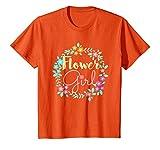 Kids Flower Girl Tee Shirt Cute Gifts Wedding 10 Orange