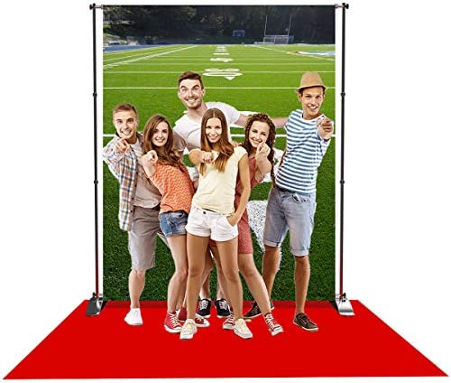 Levoo Rugby Tennis Playground Basketball Court Background Banner Photography Studio Green Grass Sports Games Cheer Cheer Sports Birthday Party Photography Backdrop Home Decoration 5x3ft,sxy241