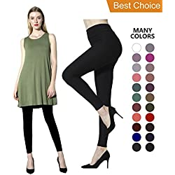 Diravo High Waist Womens Leggings,Black(1 Pack High Wait Leggings),Plus Size(12-24)