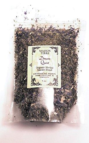 - Wild Lettuce Leaf, Dream Quest Herbal Smoking Blend, 1 oz.