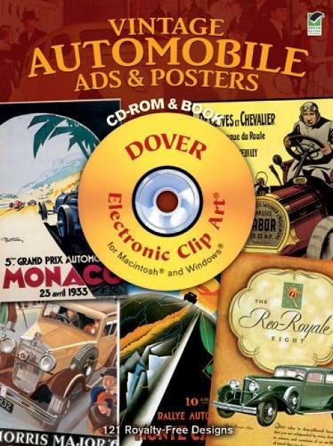 Vintage Automobile Ads and Posters CD-ROM and Book (Dover Electronic Clip Art)