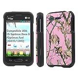 LG Optimus Zone 2 / Optimus Fuel [VS415 / L34C] Case, [NakedShield] [Black] Total Armor Protection Case - [Pink Hunter Camouflage] for LG Optimus Zone 2 / Optimus Fuel [VS415 / L34C]