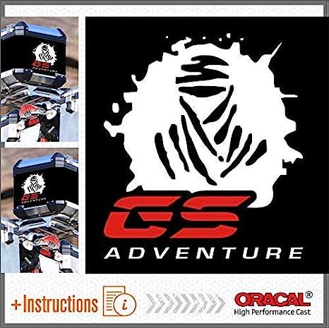2pcs Dakar GS Adventure Autocollant BMW R 1200 1150 F 800 650 F700 GS A R1200GS R1200 Motorrad Touratech Motorcycle Givi Trekker Outback Aluminium Panniers Sacs lat/éraux Top Case Black//Grey