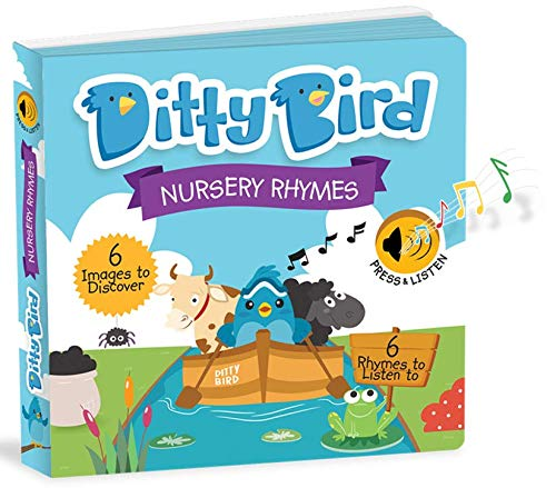 Ditty Bird Our Best Interactive Musical Nursery Rhymes Book for Babies. Educational and Musical Toddler Toys Ages 1-3. Sound Board Books for one Year Old. 1 Year Old boy Gifts. - Bird Electronic Toy