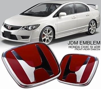 Red Honda Jdm Type Emblem Fits Honda Civic City Brio Amaze 2009 2018